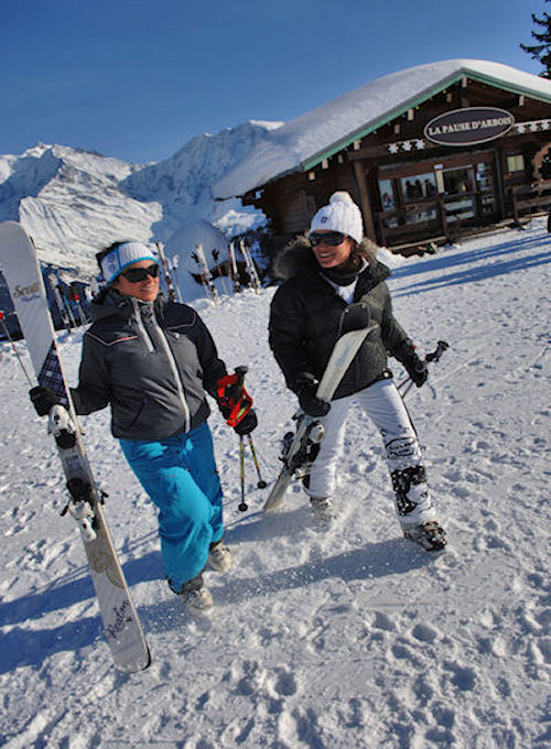 Skiing Megeve