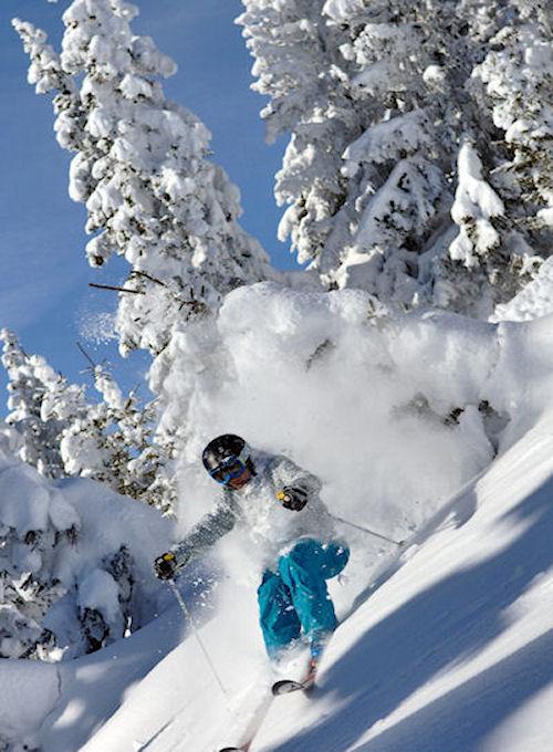 Powder skiing Megeve