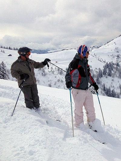 Skiing Jaillet